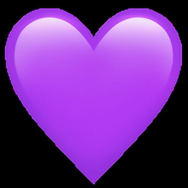 corazon emoji morado lila pngsticker