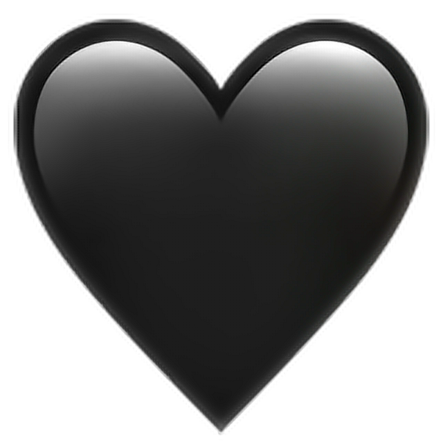 Heartbeat Png Transparent Black: •Black Heart Emoji 🖤 Heart Black Emoji Emoticon Iphone