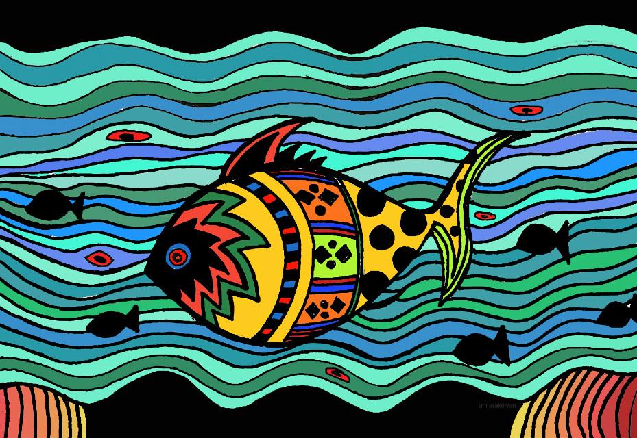 #fish #colors #lines