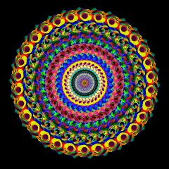 freetoedit abstract popart colorful mandala