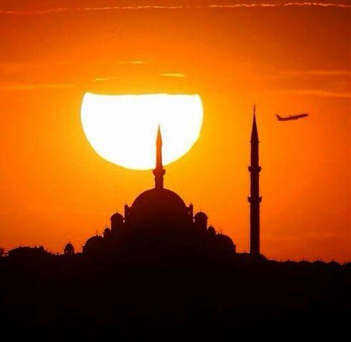 mosque sunset plane photography freetoedit