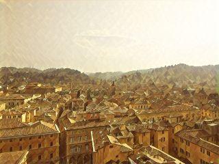 cityscapes pastel bologna italy