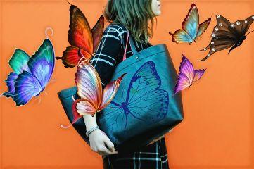 freetoedit dailyremix butterflies girly purseremix