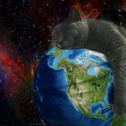 freetoedit cat planet ekc lazysundayremix