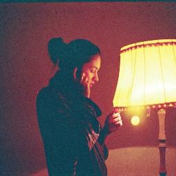 freetoedit film girl lamp