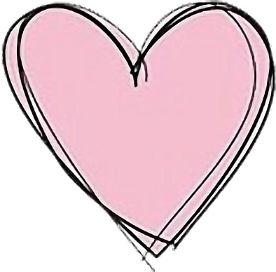 Tumblr pink heart drawing