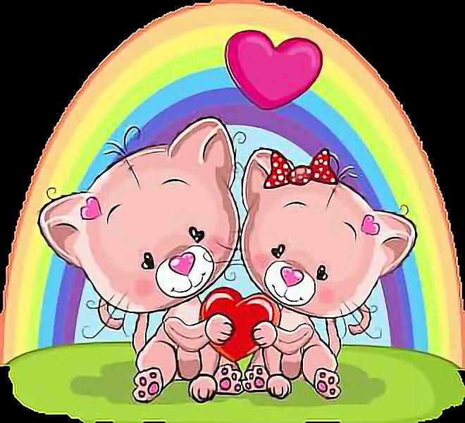 #rainbow #arcobaleno #cats #enjoytoday #smile #sorrisi #cartoon #goodafternoon #goodmorning #morning