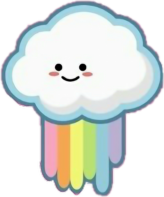 #freetoedit #cute #kawaii #rainbow #cloud#FreeToEdit