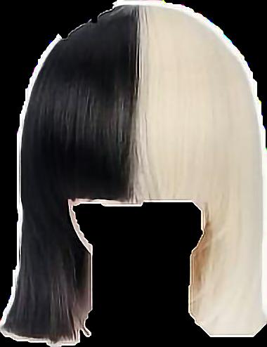 Hair Wig Sia Black White Blackandwhite Pop Music Freeto