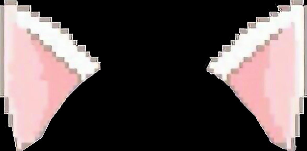 пиксельные ушки усики на фото под