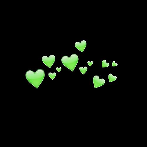 Heart Tumblr HeartCrown Green Hearts Head