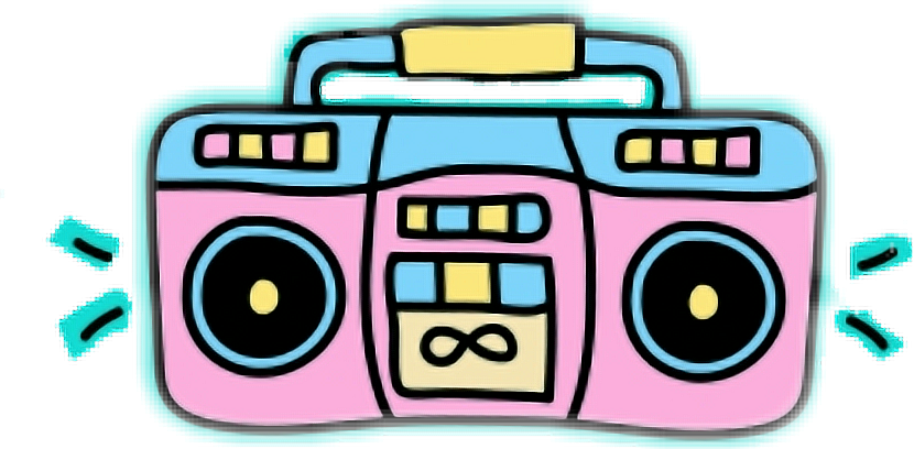 Stereo Rocknroll Boombox Sticker By Asiangirl101