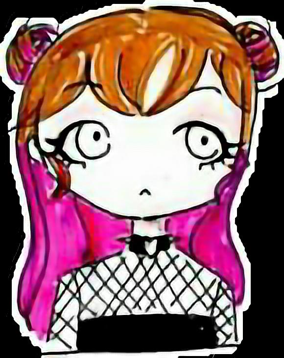 original by @rosentinte by Ynk, do not reupload. #Ynk #ynkoriginal #chibi #pinkhair #hairbuns #spacebuns #chibigirl #freetoedit