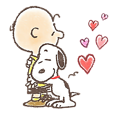 #snoopy #love #heart #xoxo #hug #charliebrown #watercolor #handpainted