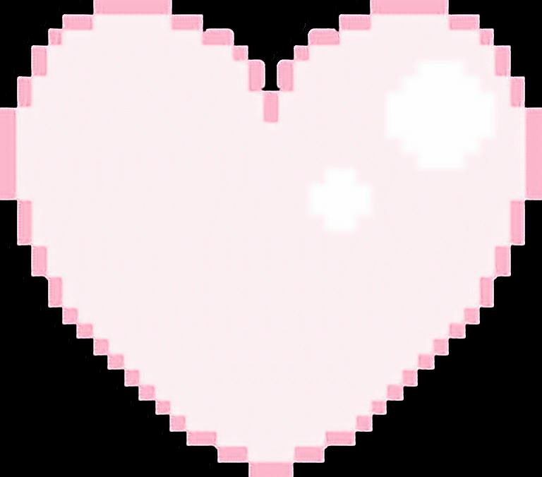 Heart Pink Pastel Cute Kawaii Pixel Art Pixelart