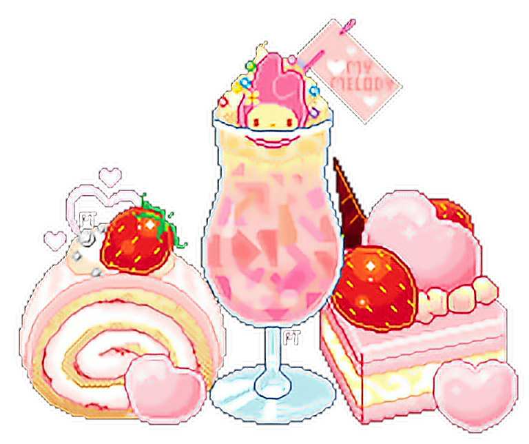 Pixel Art Kawaii Nourriture Frite