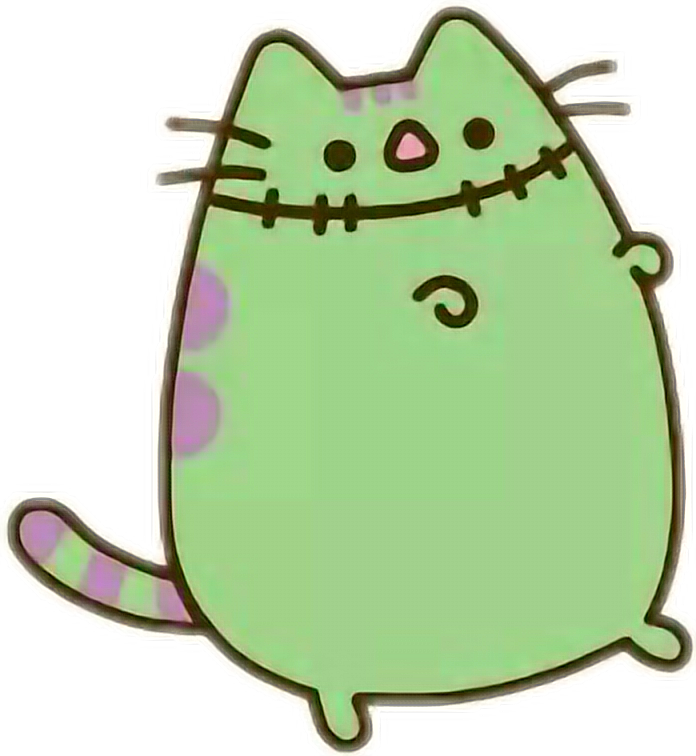 pusheencat pusheen cat frankenstein halloween
