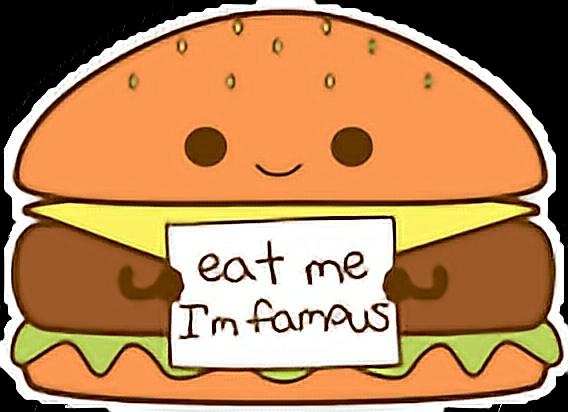 Cute Kawaii Food Burger Hamburger Cheesburger.
