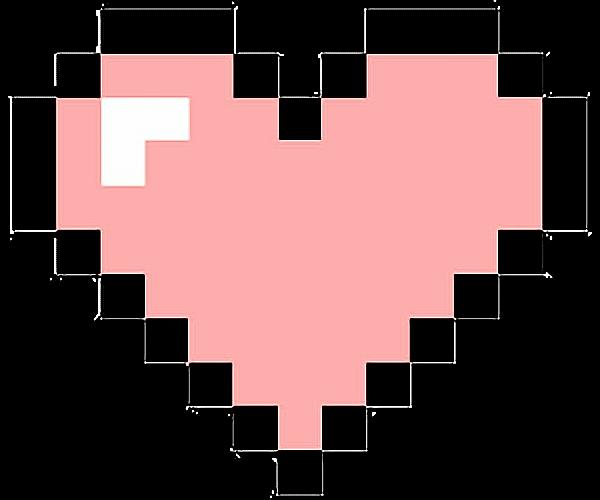 heart pixel kawaii hearts tumblr ftestickers...