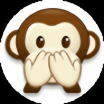 monito changuito monkey emoji - Sticker by Fabyyzj__