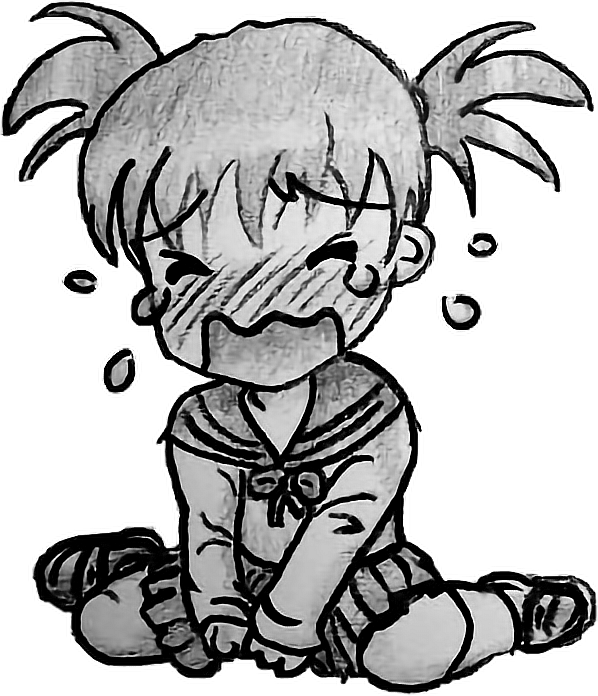 Cry Anime Chibi Sad Sticker Cute Drawing Freetoedit