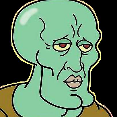 Squidward meme sticker by jacob5782
