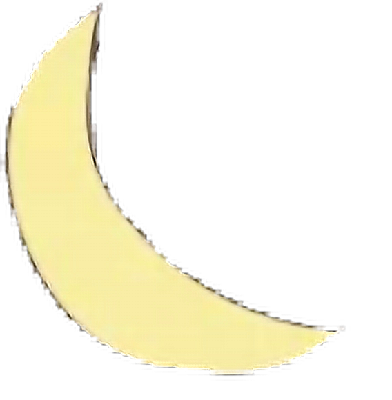 #moon #crescent #yellow #space #doodle