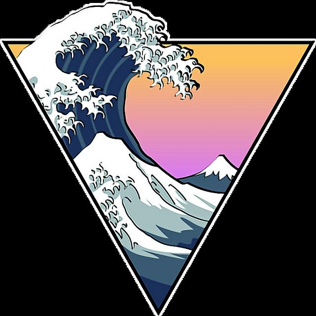 #wave #aesthetic #arthoeaesthetic #arthoe #vaporwave #vaporwaveaesthetic #cool #triangle #fade #sunset #sunrise